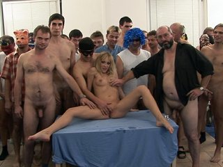 Tight blond chick gets extreme..