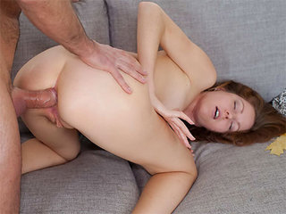 Young lady gets some rectal and a jizz shot