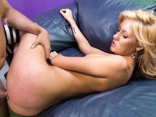 Emily Kae gets pounded on a sofa