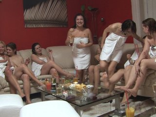 Cute girls at czech lesbian party