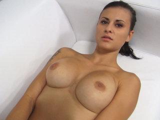 Stunning Big Tits Brunette PornJob Interview