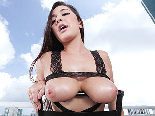 Busty bombshell Karlee Grey received a..